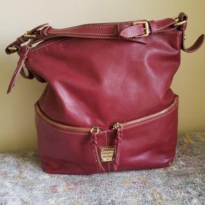 Dooney & Bourke XL maroon leather satchel large